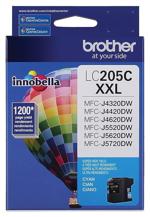 Brother Printer LC205C Super High Yield Ink Cartridge Cyan