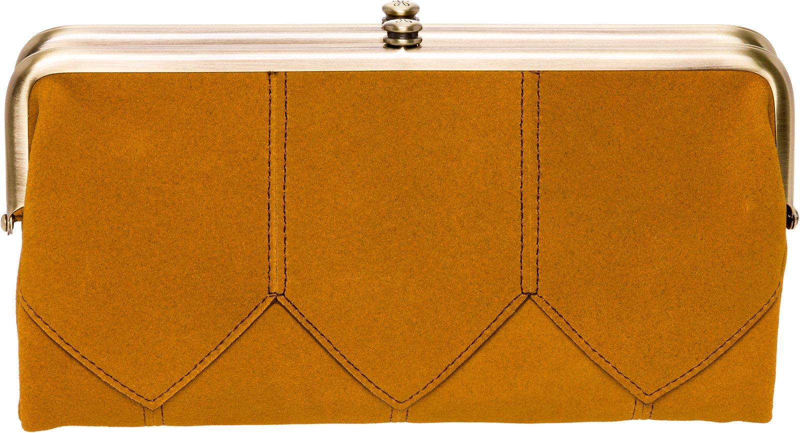 Hobo Womens Suede Vintage Lauren Clutch Wallet Purse (Harvest)