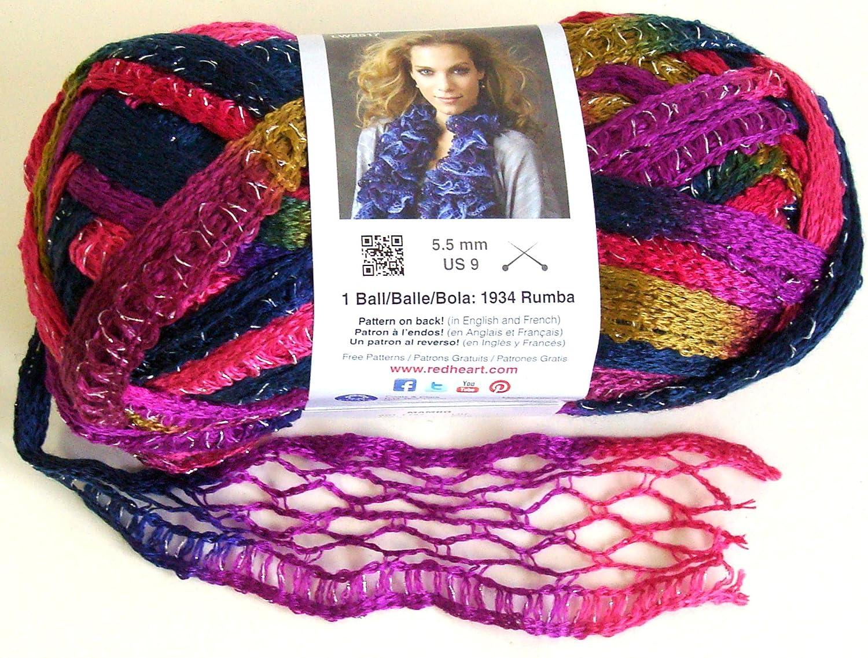 Amazon.com: Bulk Buy: Red Heart Boutique Sashay Yarn (3-Pack) Mambo ...