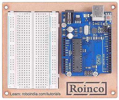 Robo India Arduino UNO R3 for Breadboard Kit With Breadboard & Breadboard  Holder