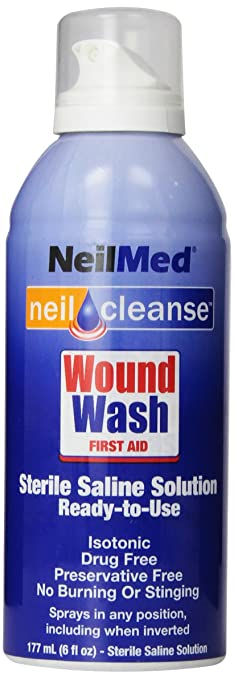 Amazoncom Neilmed Cleanse Sterile Saline Wound Wash 6 Ounce