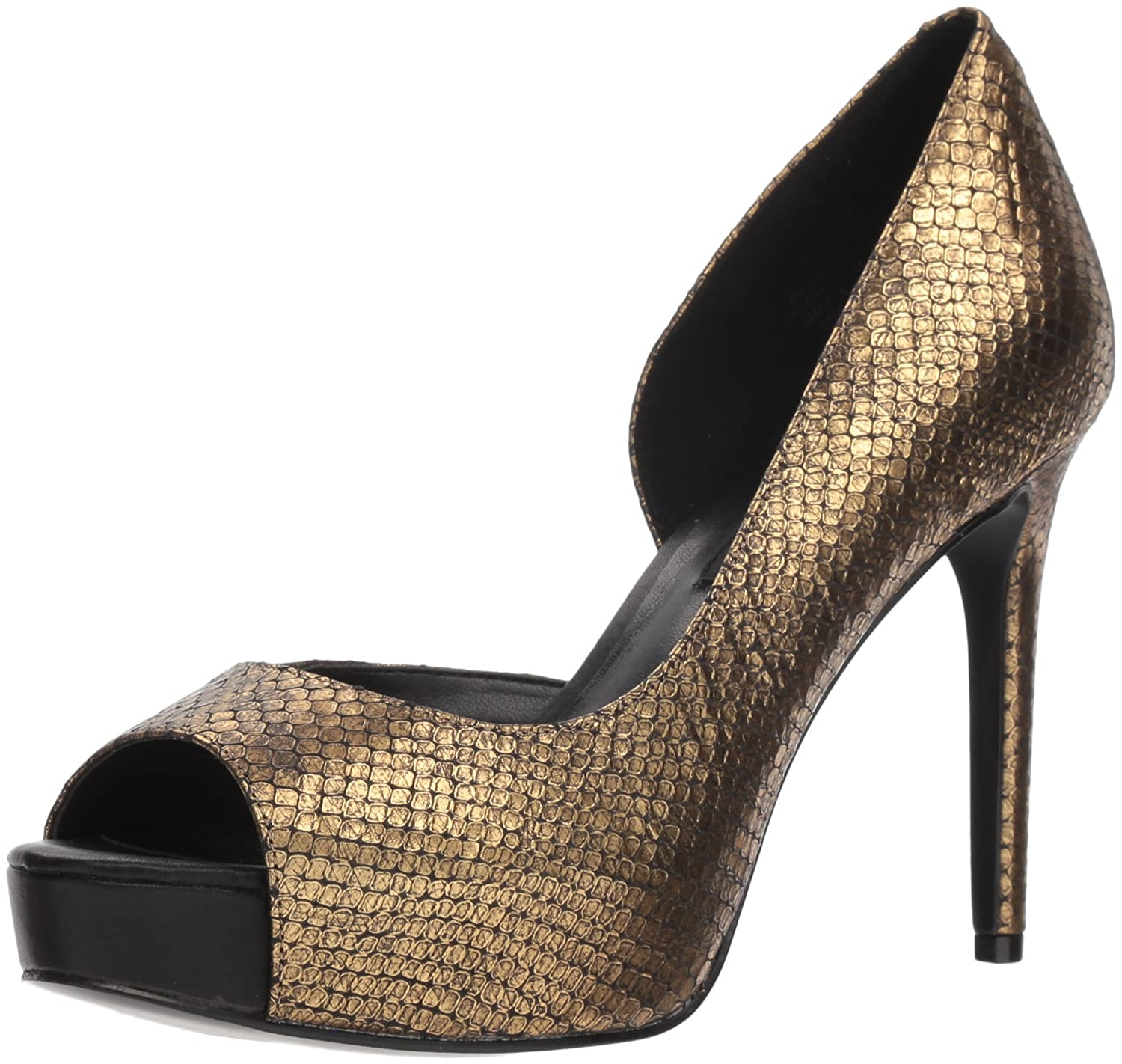 Nine West Women's Expensive Metallic Pump B077W16WKS 8 B(M) US|Gold