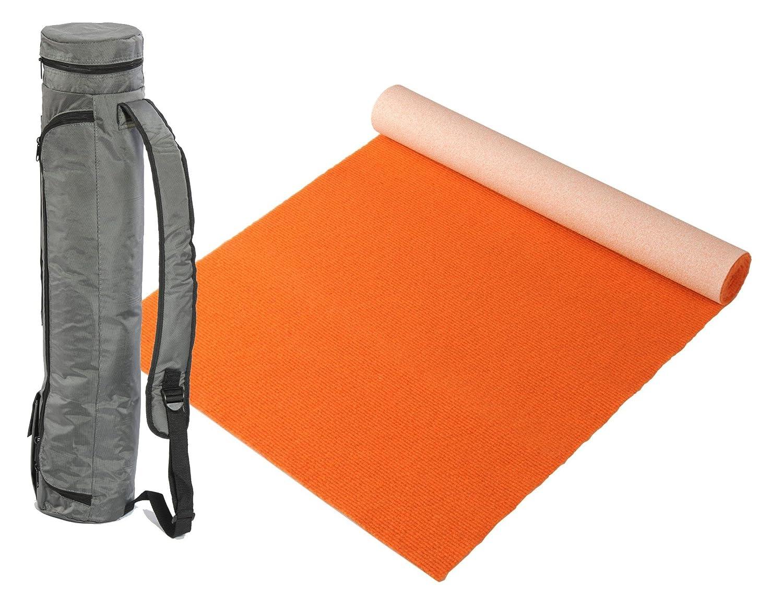 """Bausinger Yogaset  Yogamatte """"Lite"""", Florhöhe 5mm, 80x200 cm, Orange, mit passender Yogatasche"""