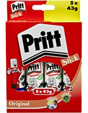 Pritt Stick Original Multipack / Childproof and washable glue stick for paper, cardboard and felt / 5 x 43g