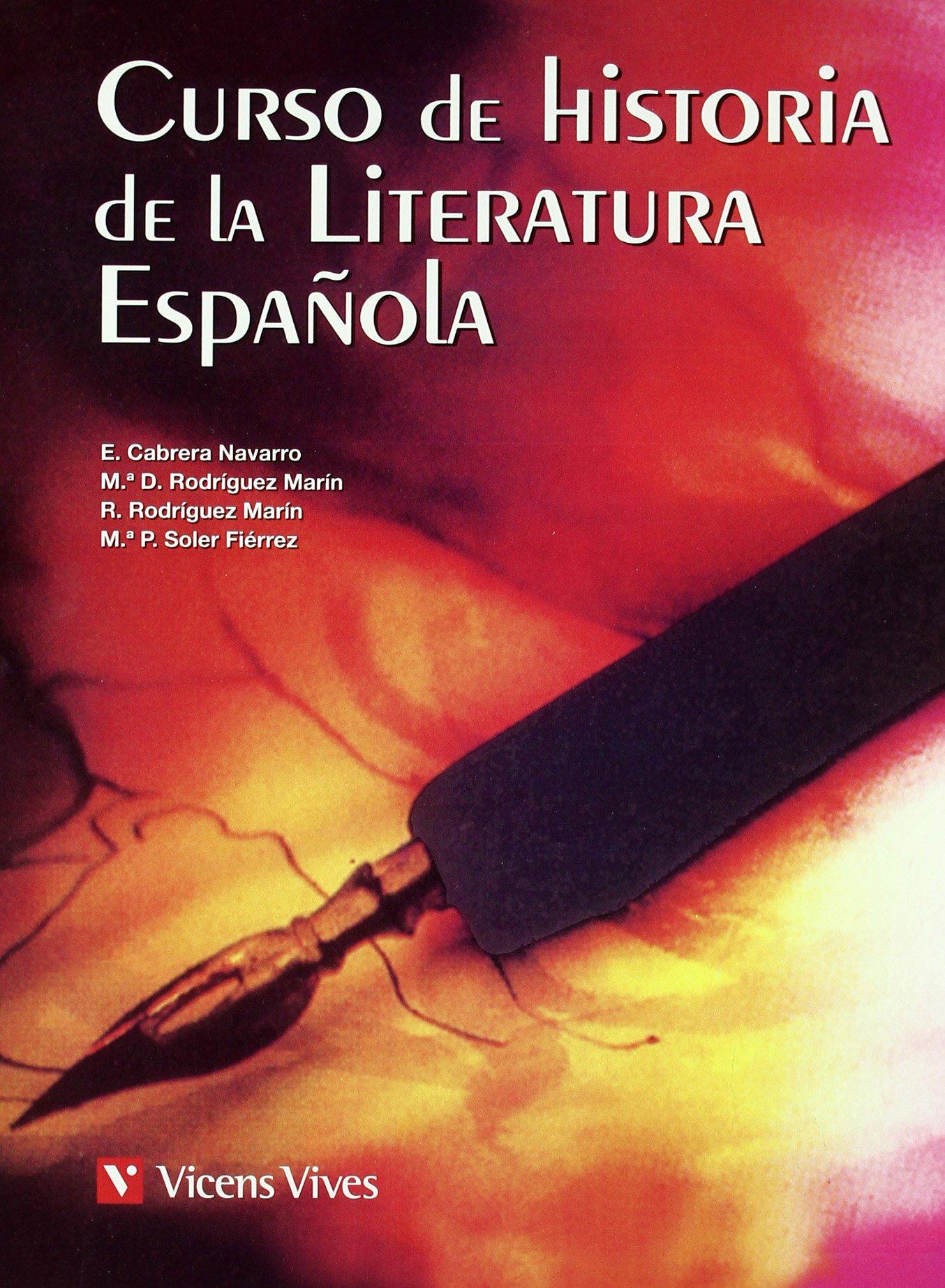 CURSO DE HISTORIA DE LIT. ESPAÑOLA: 000001 - 9788431673642: Amazon.es: Rodriguez Marin, Maria Dolores: Libros