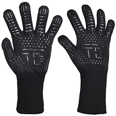TDYNASTY DESIGN BBQ Grilling Cooking Gloves 932°F Extreme Heat Resistant Oven Mitts Barbecued Glove Cooking,Grilling,Baking