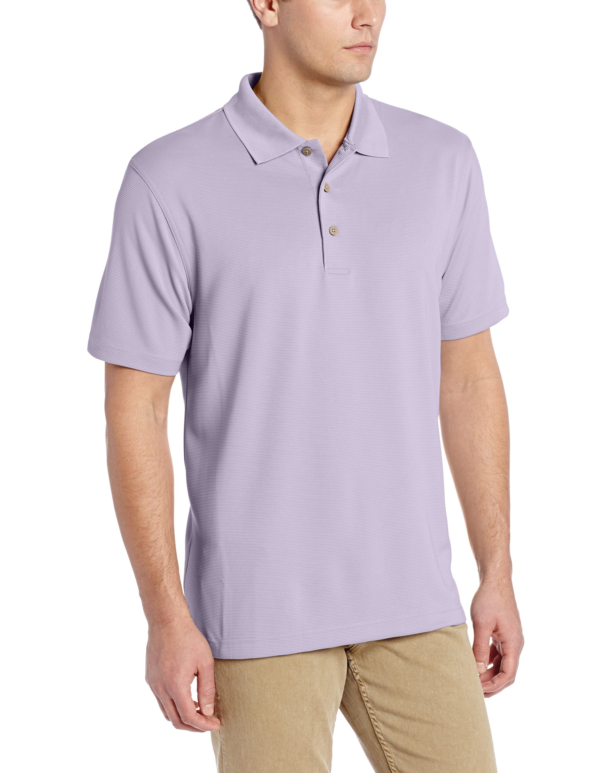 Cubavera Men\u0027s Essential Textured Performance Polo Shirt, Heirloom Lilac,  Large product image