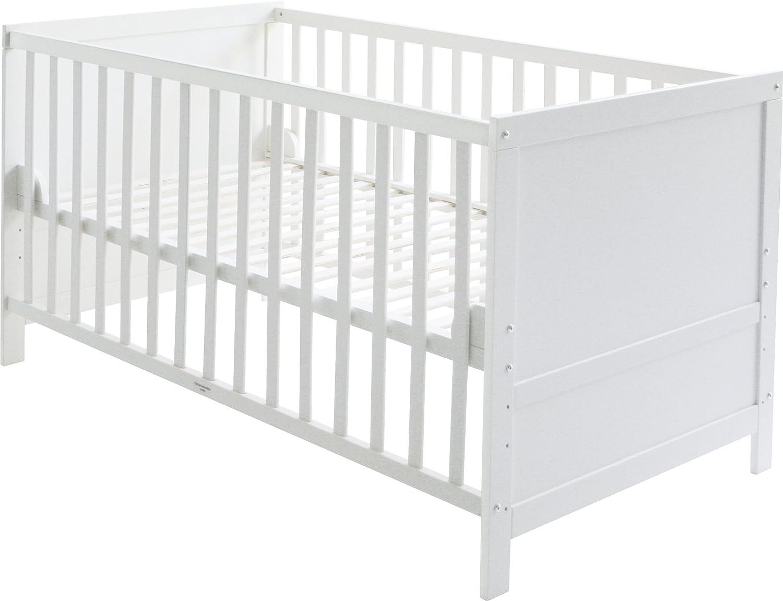 Roba Kombi Kinderbett Baby 70x140 Cm Babybett Holz Weiss 3 Fach