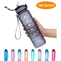Giotto 32oz/22oz Leakproof BPA Free Drinking Water Bottle with Time Marker & Straw...