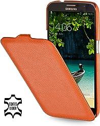 StilGut UltraSlim Case, custodia in vera pelle per Samsung Galaxy Mega 6.3 i9200 Mega LTE i9205 i9208, arancione