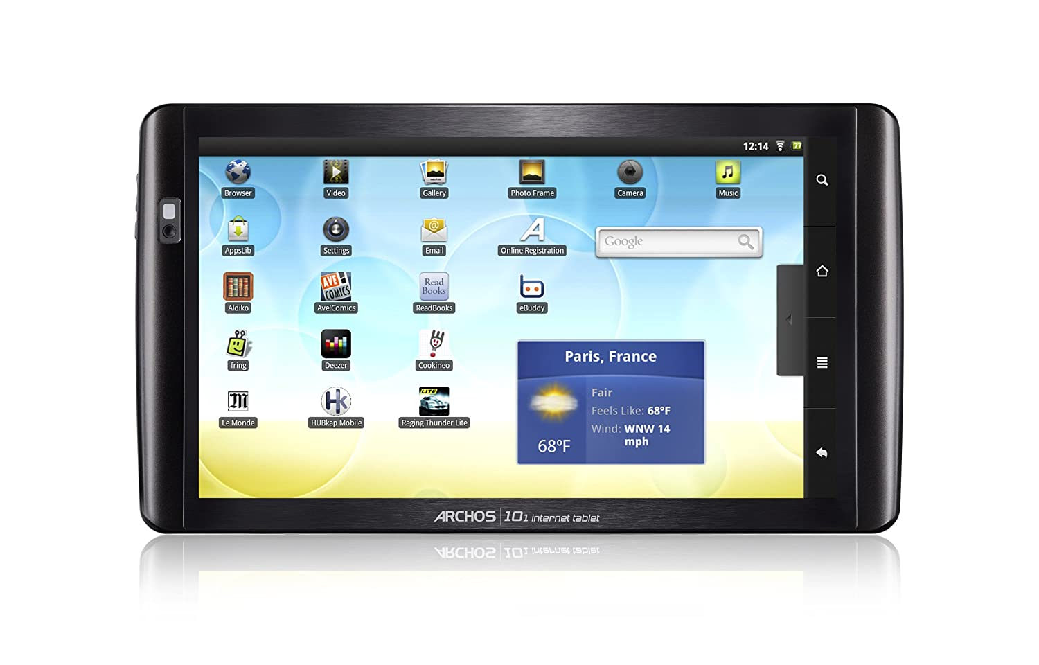 appslib sur archos 7 home tablet