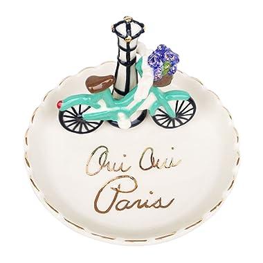 Blue Sky Ceramic Oui Paris Ring Holder, Multicolor