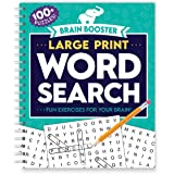 Brain Booster: Large Print Word Search-Fun Exercises for your Brain! (Brain Boosters)