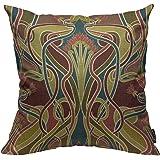 Mugod Throw Pillow Cover Floral Vintage Nouveau Design Arts Home Decorative Square Pillow Case for Men Women Boy Gilrs Bedroo