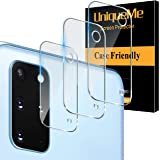 [ 3 Pack] UniqueMe Camera Lens Protector for Samsung Galaxy S20 Plus 5G / 4G Screen Protector Tempered Glass [Ultra-Thin] Cas