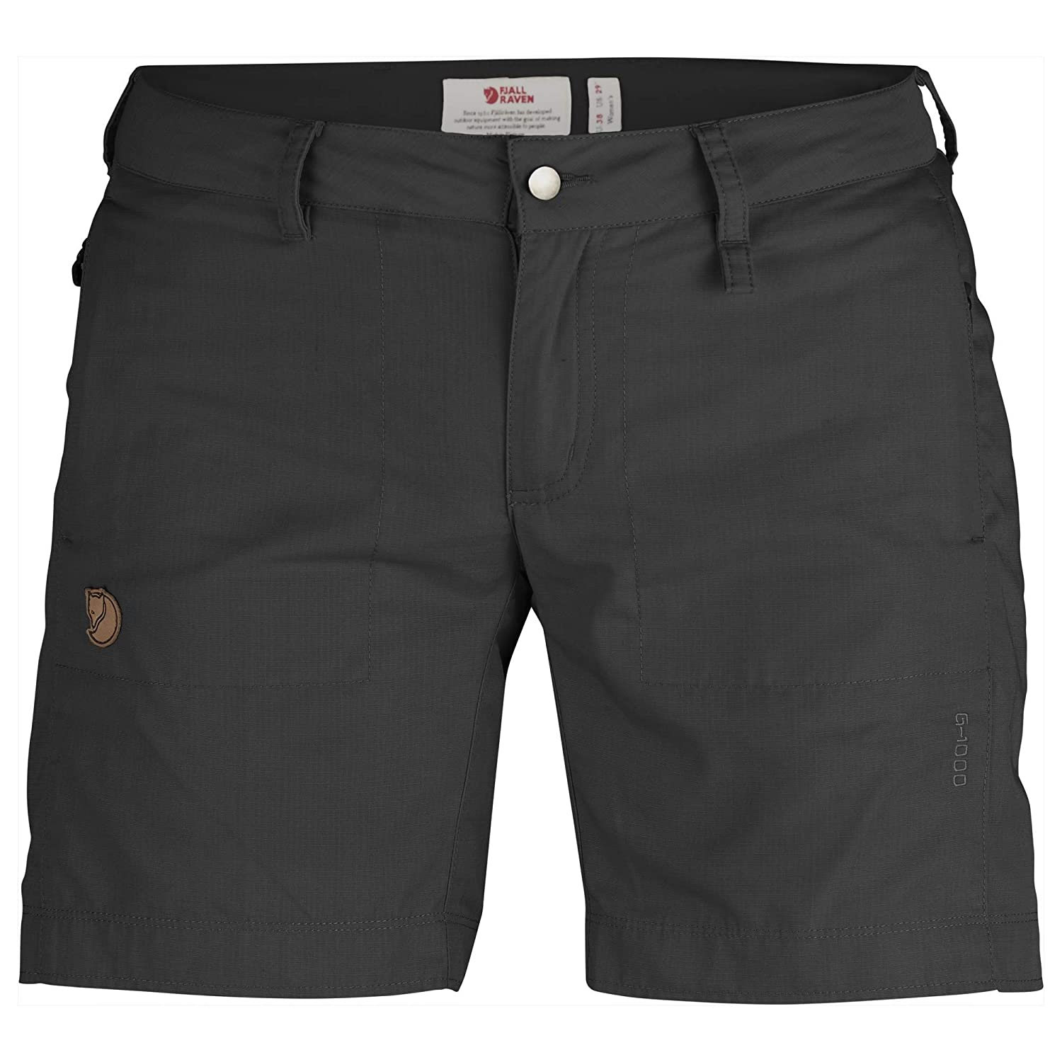 Dark Grey Fjallraven Women's Abisko Shade Shorts