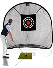 Galileo Golf Net Golf Hitting Nets for Backyard Practice Portable Driving Range Golf Cage Indoor Golf Net Training Aids with Target 7'x7'
