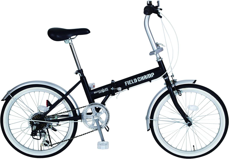 FIELD CHAMP(フィールドチャンプ) 20インチ折畳自転車FDB206 シマノ製6段ギア搭載 ブラック MG-FCP206 MG-FCP206 ブラック