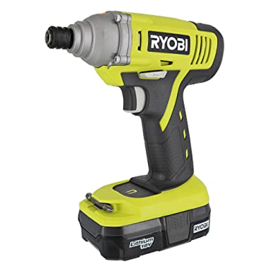 Ryobi P1870 18V Lithium Ion Battery Powered 1/4 Inch 1,500 Inch Pound Impact Driver Kit (P234 Impact Driver, P102 18V Battery and P119 Charger Included)