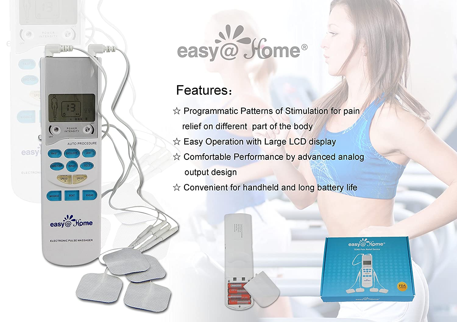 Electronic muscle stimulator used for sex