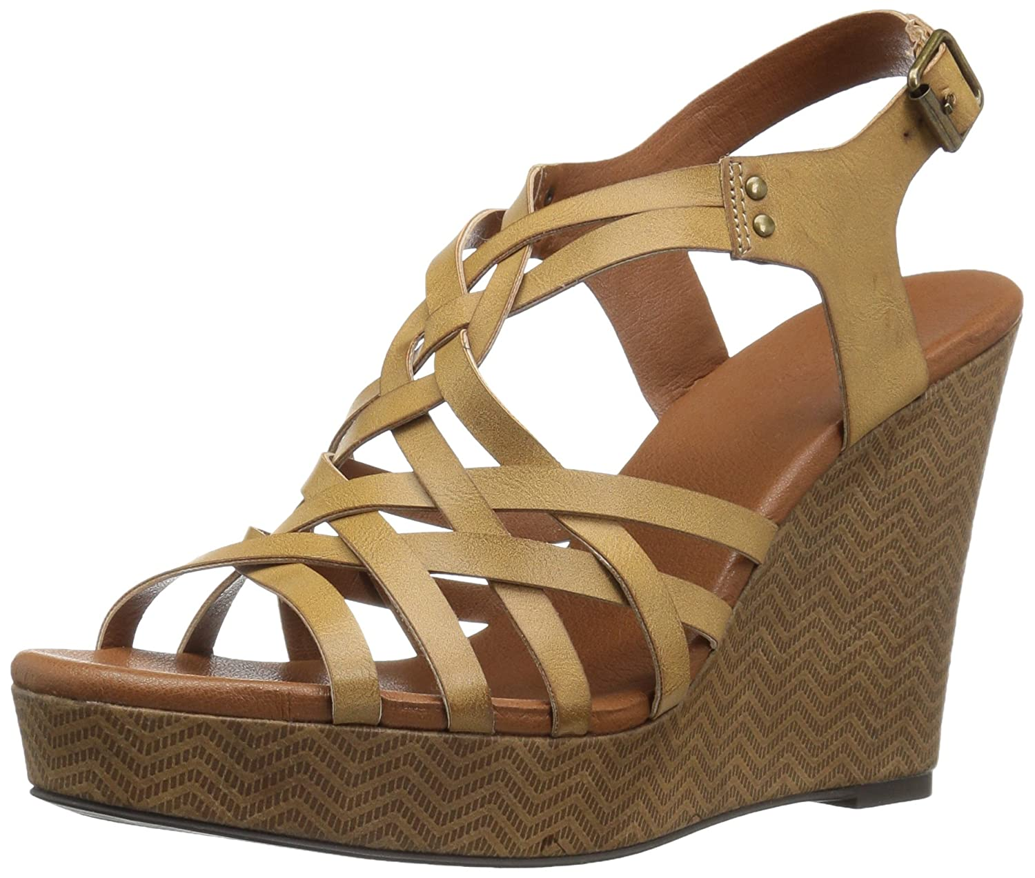 Dolce by Mojo Moxy Women's Safara Wedge Sandal B06XHBLJXT 8.5 UK/US Size Conversion M US|Cognac