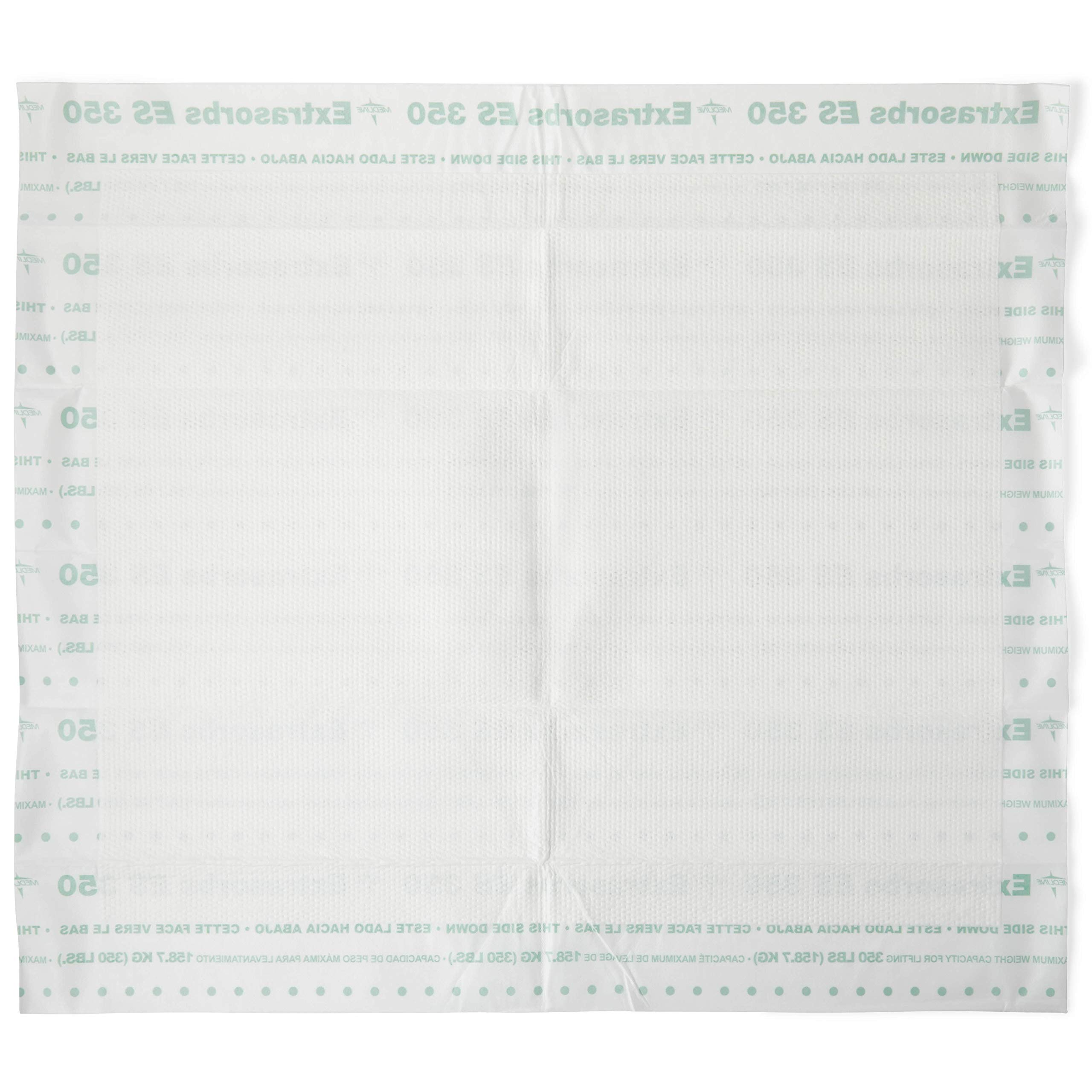 Medline Extrasorbs Extra Strong Disposable Underpads, Super Absorbent Dry Pads, Case of 70 product