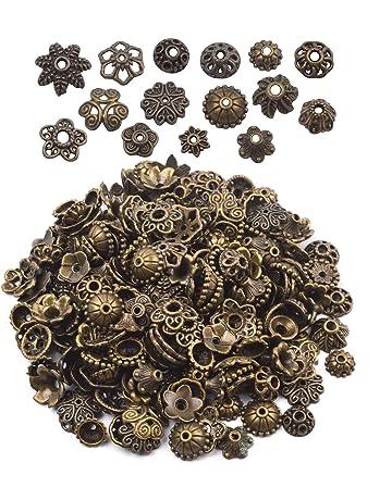20mm Dailymall 100pcs Ribbon Clip Clamp Cord Crimp End Cap Tip Necklace Bracelet Findings Golden