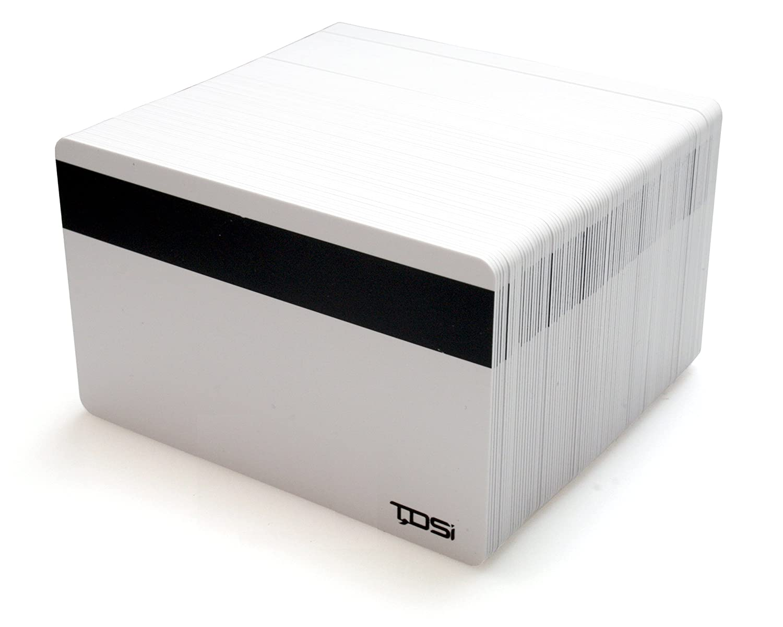 TDSi Uni weiß Nähe Karten mit Hi-Co-Magstripe, 100 Stück