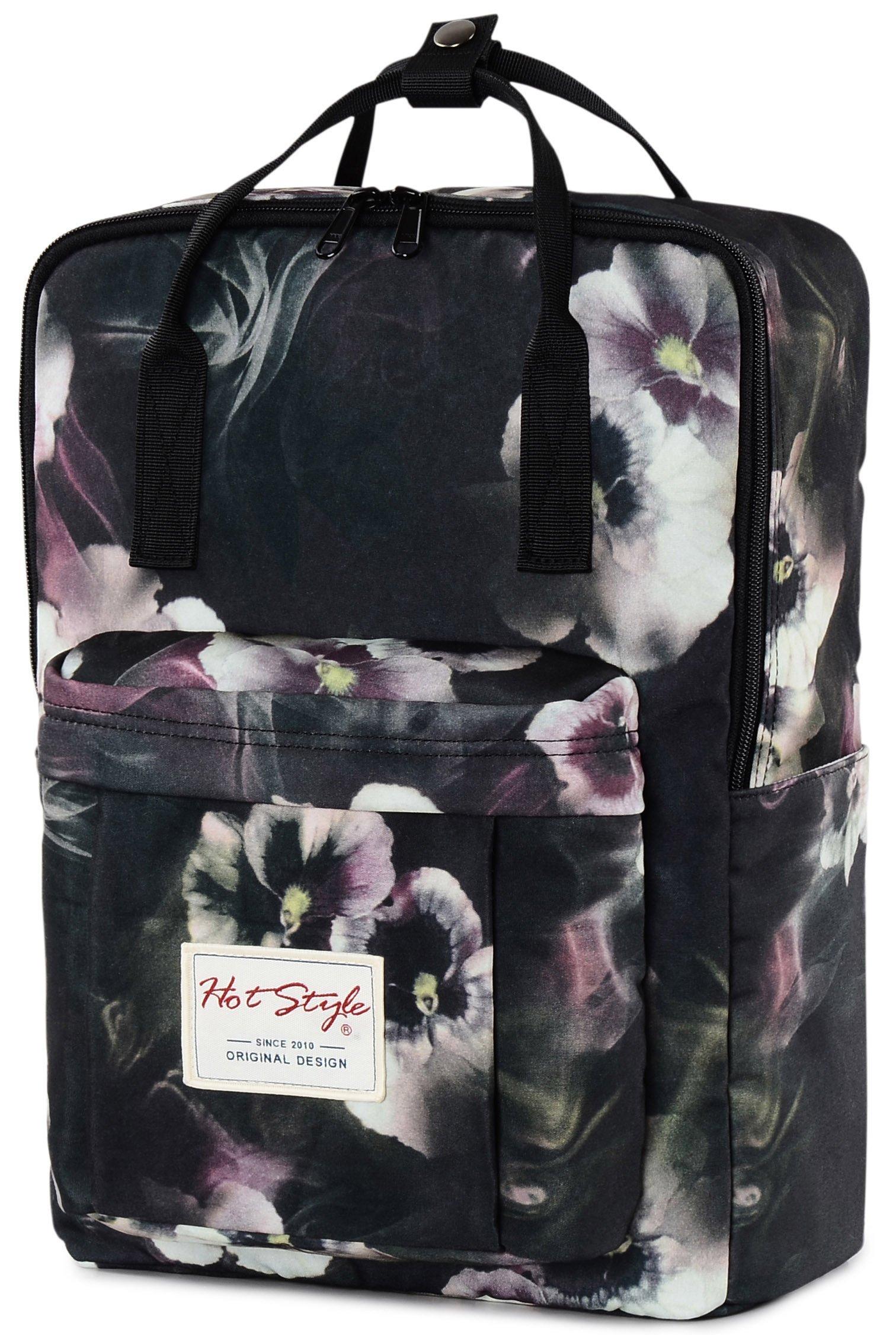 Bestie Mochila Magnolia Colegio Mujer para Notebook 14-Inch (37x26x13cm), Flores,