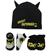 DC Comics Baby Boys Batman Take-Me-Home Set, black, 0-3 Months
