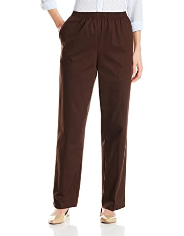 3ded92066cb ... Trouser Pant  Curvy Fit. Alfred Dunner Women s Proportioned Medium  Twill Pant