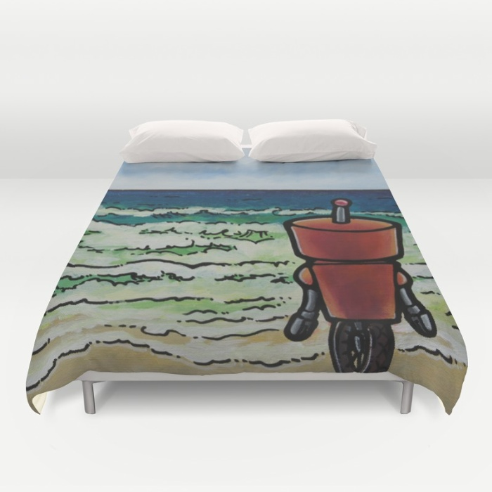 Robot - The Great Pacific Duvet Cover by Mydetic | Society6
