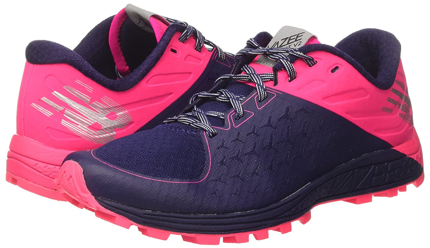 New Balance Women's Vazee Summit V2 Running Shoe Trail Runner B01LWZGFME 8.5 B(M) US|Dark Denim/Alpha Pink