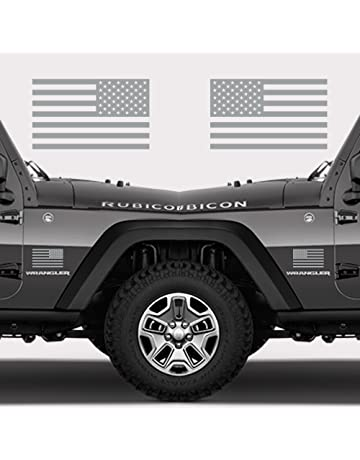 15e08fcd6a Classic Biker Gear Subdued American Flags Tactical Military Flag USA Decal  Jeep 5