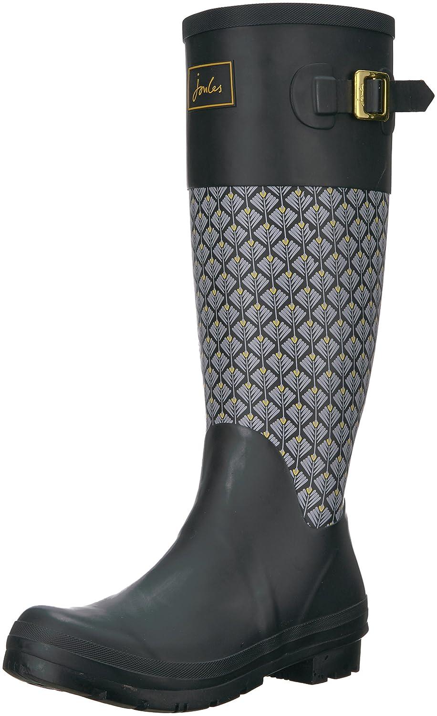 Joules Women's Wadebridge Rain Boot B06WGNW97R 5 B(M) US|Black Feather Geo