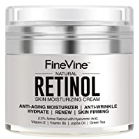 Retinol Moisturizer Cream for Face and Eye Area - Made in USA - with Hyaluronic...