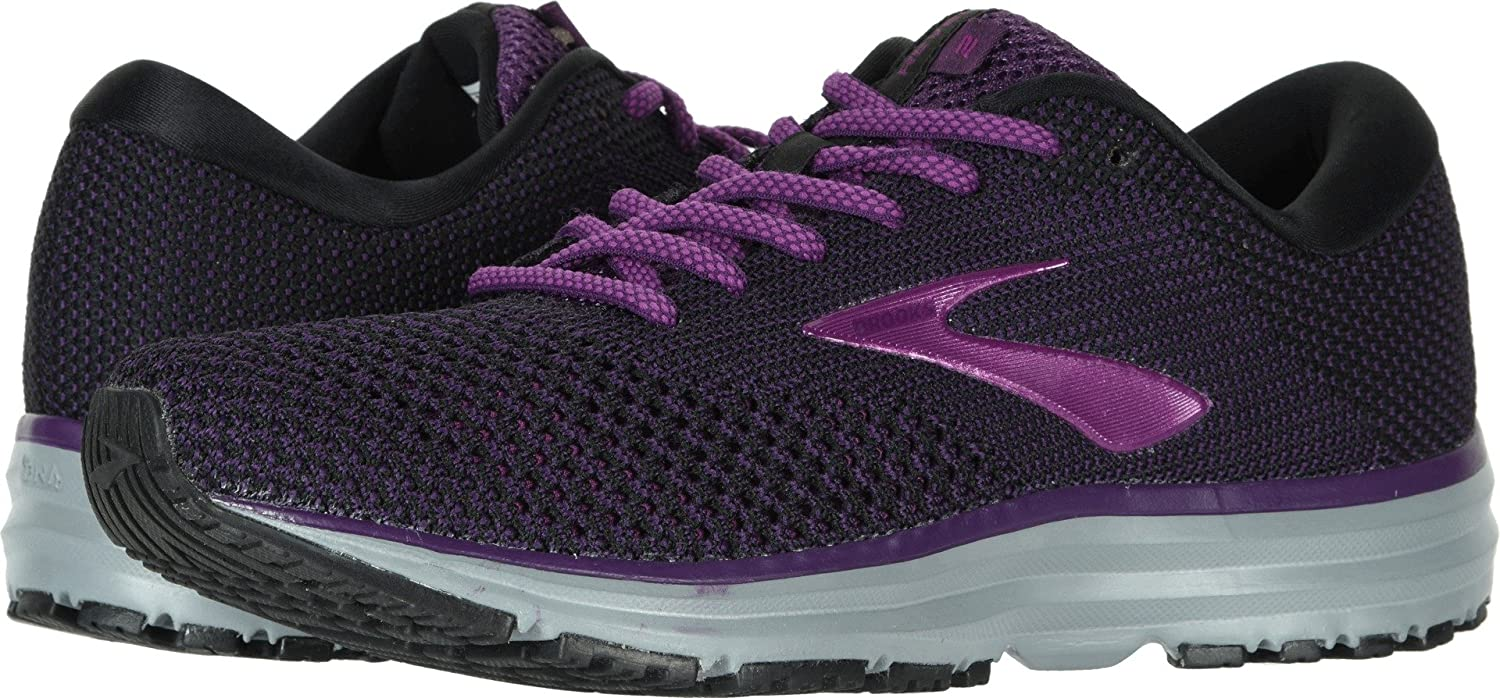 Brooks Womens Revel 2 B077NG88LG 6 B(M) US|Black/Purple/Grey