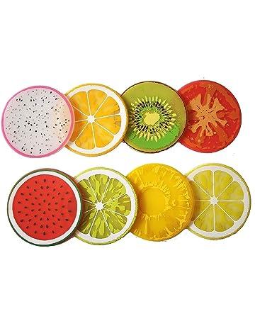 Demarkt Posavasos de Color de Frutas Posavasos de Aislamiento de Calor 8PCS - Aleatoriamente Enviado