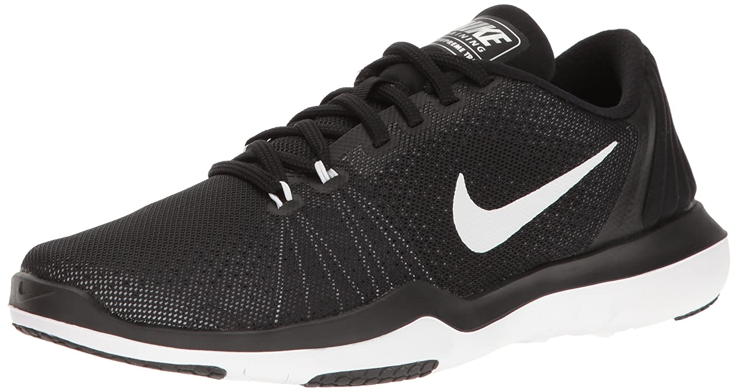 NIKE Women's Flex Supreme TR 5 Cross Training Shoe B01JIPFY9O 10 D(M) US|Black/White/Pure Platinum