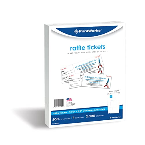 printworks perforated paper for raffle tickets coupons and more tear away stubs