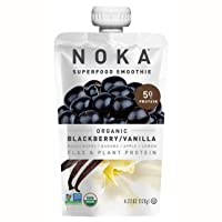 NOKA Superfood Pouches | 100% Organic Fruit And Veggie Smoothie Squeeze Packs |...