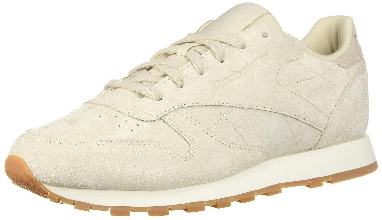 Reebok Women's Classic Leather Sneaker B077ZFCYQ1 6.5 B(M) US|Exotics-chalk