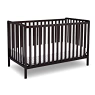 Delta Children Heartland 4-in-1 Convertible Crib, Dark Chocolate
