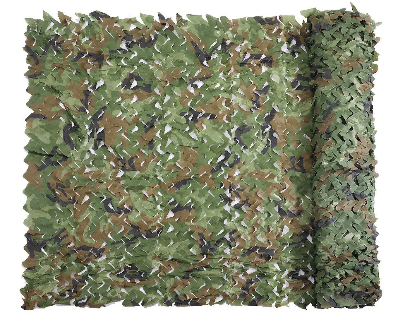 LPD-迷彩ネット 迷彩ネッティングミリタリーネット軽量耐久性のある日よけ装飾狩猟ブラインド撮影迷彩ネット (Color : Woodland, Size : 6x8m) Woodland 6x8m