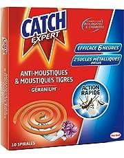 Catch - Anti-Moustiques & Moustiques Tigres - Parfum Géranium - 10 Spirales