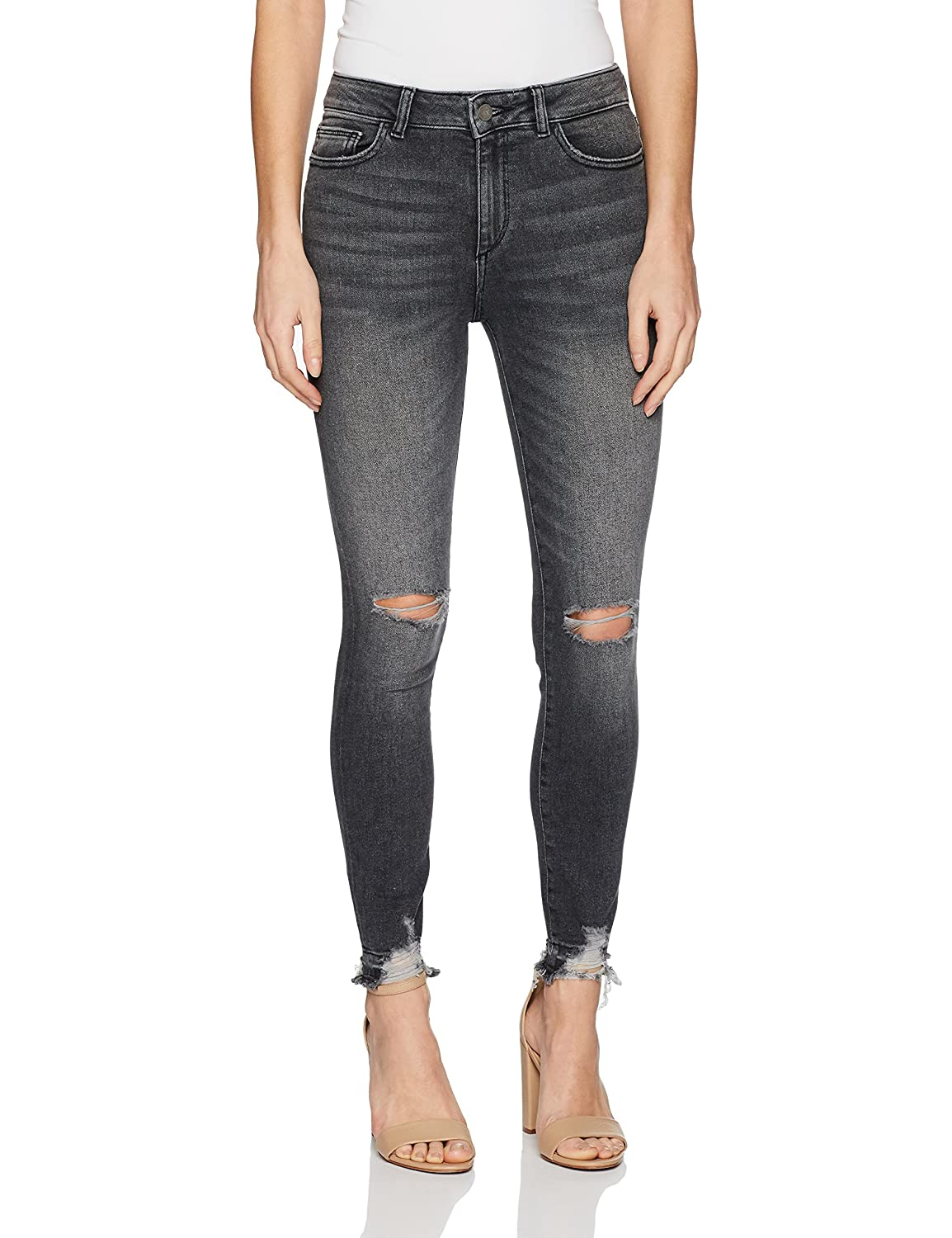 Light Smoke DL1961 Womens Farrow Instaslim High Rise Skinny in Hail