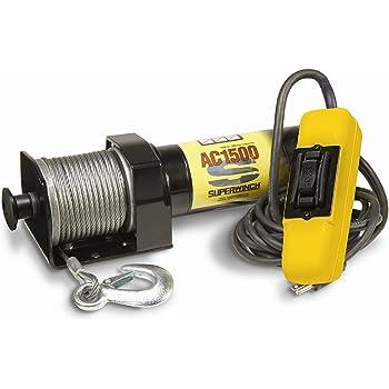 Amazon.com: Superwinch 1715000 AC 1500 120V AC Winch ...