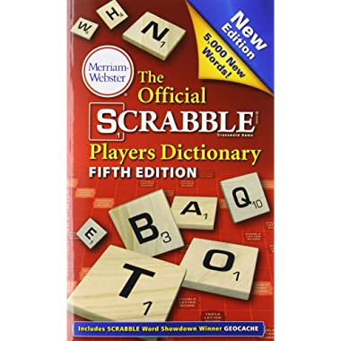 The Official Scrabble Players Dictionary, 5th Edition (mass market, paperback) 2014 copyright