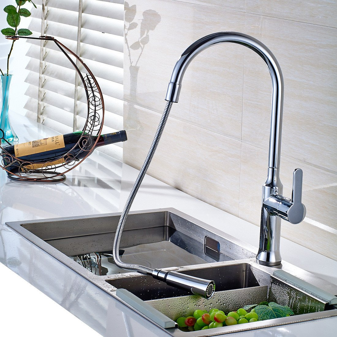 17 Lpophy Bathroom Sink Mixer Taps Faucet Bath Waterfall Cold and Hot Water Tap for Washroom Bathroom and Kitchen Chrome Plating 1