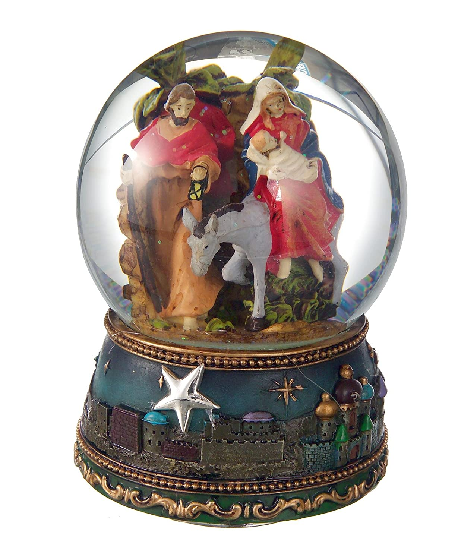 Weihnachtskrippe Schneekugel mit Base Figure Figure Figure A Relief und Spieluhr, Anwendung Stern Silber 925 ° ° ° B01LZ1X04Z Schneekugeln b10d8b